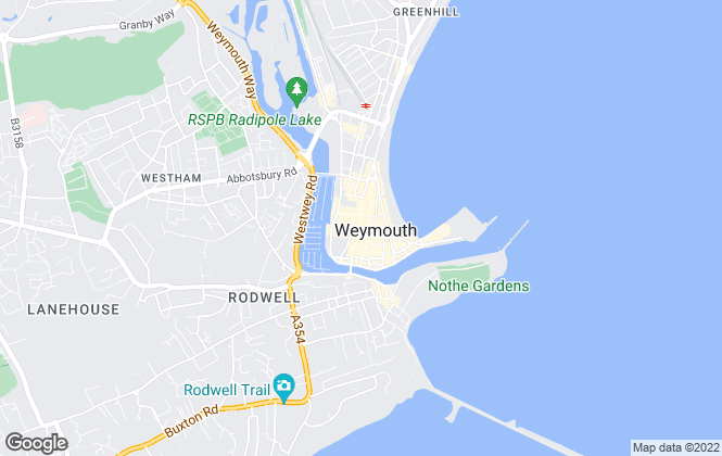 Map for Hull Gregson Hull, Weymouth