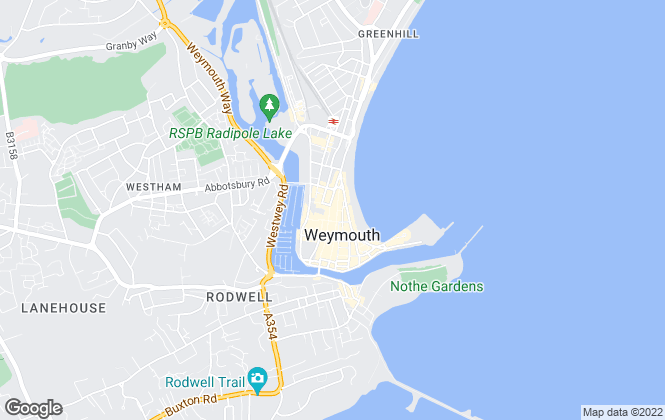 Map for Dorset Lettings, Weymouth