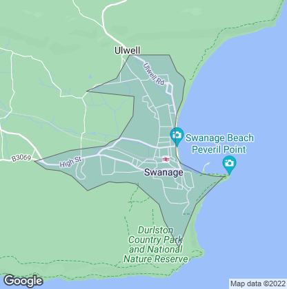 Map of property in Swanage
