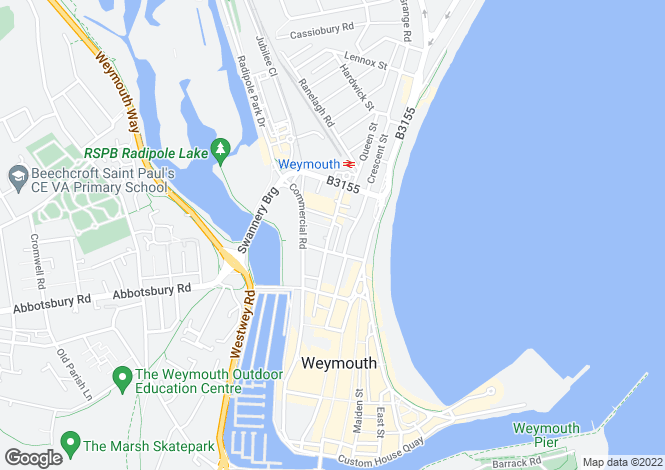Map for Park Street, Weymouth