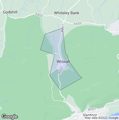 Map of property in Wroxall