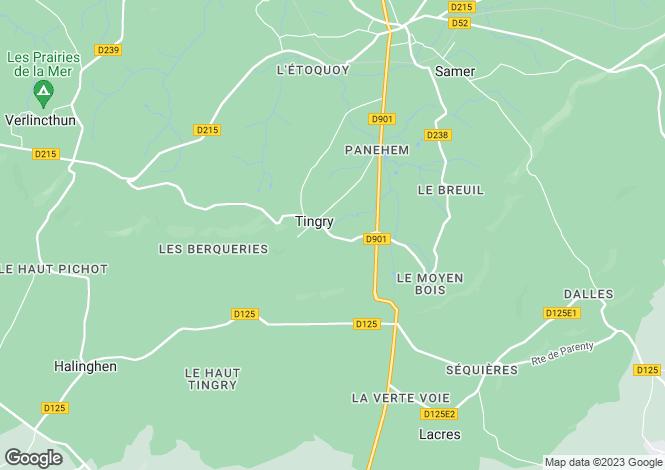 Map for Tingry, Pas-de-Calais, Nord-Pas-de-Calais