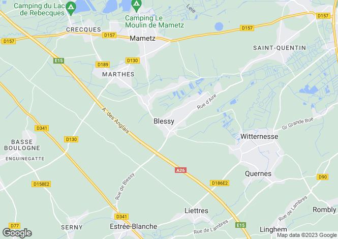 Map for blessy, Pas-de-Calais, France