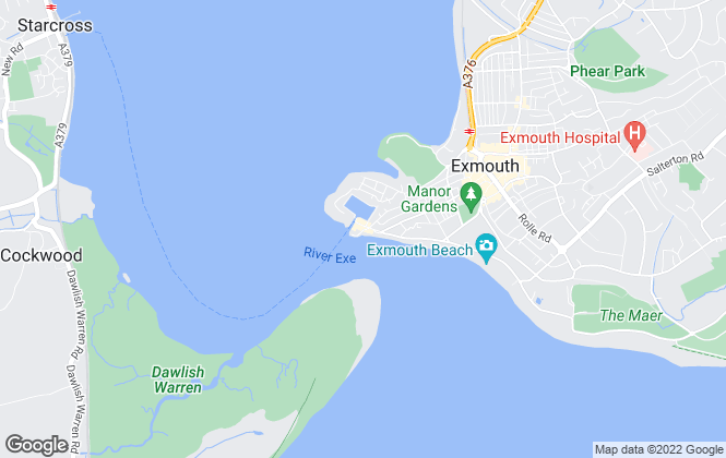 Map for Hall & Scott, Exmouth
