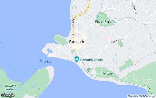 Map for Bainbridges, Exmouth
