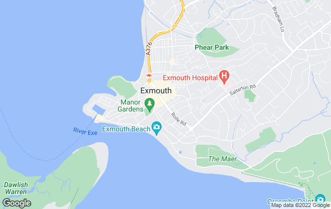 Map for Pennys, Exmouth