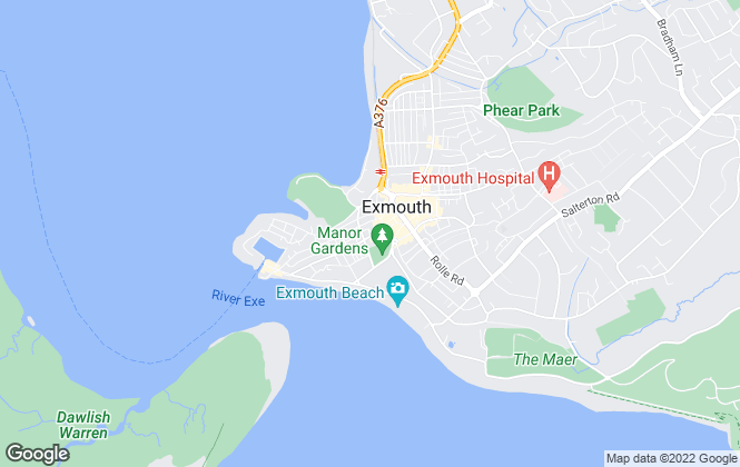 Map for Sarah Dunn & Co, Exmouth