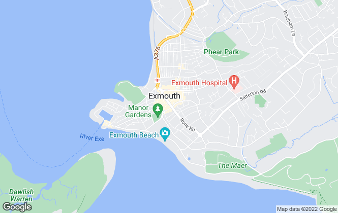Map for Fulfords, Exmouth (Rolle Street)