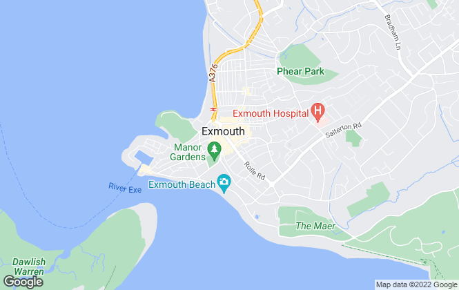 Map for @home Estate & Letting Agents, Exmouth