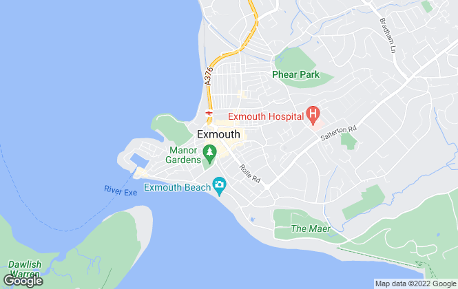 Map for Whitton & Laing, Exmouth