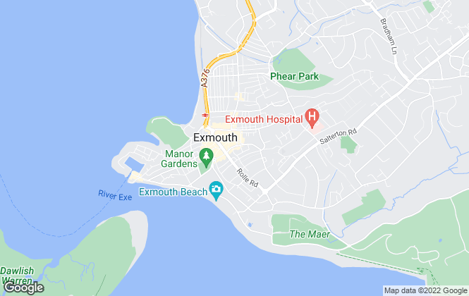 Map for Links Estate Agents, Exmouth