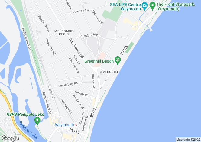 Map for Greenhill, Weymouth..