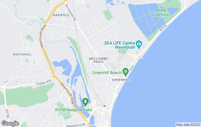 Map for Austin Estate Agents, Weymouth