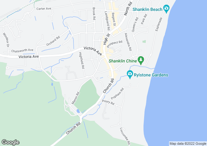 Map for Shanklin