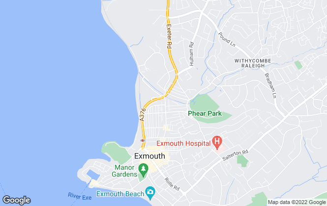 Map for W2 Estates, Exmouth