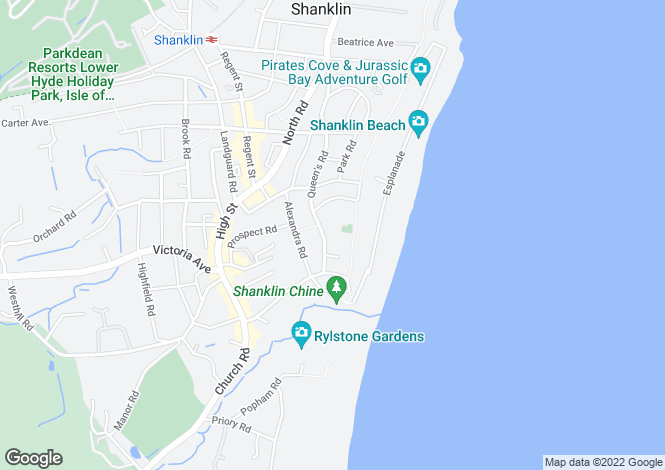 Map for Queens Road, Shanklin, Isle Of Wight
