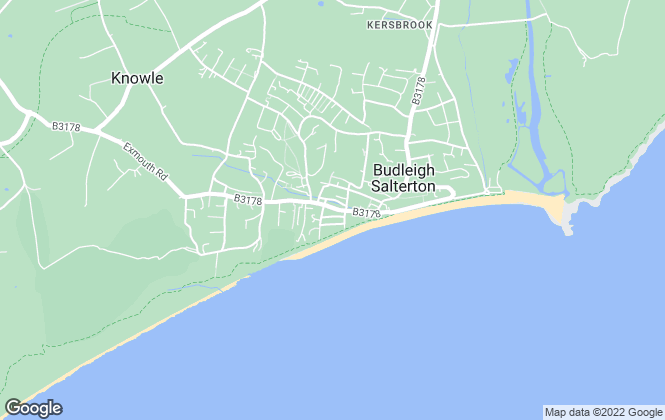 Map for Bradleys, Budleigh Salterton
