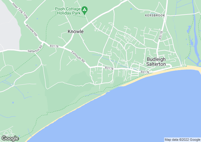 Map for West Hill Court, Budleigh Salterton, Devon