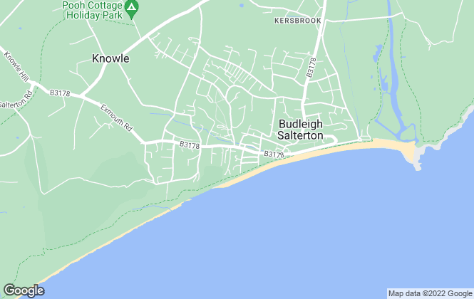 Map for Whitton & Laing, Budleigh Salterton
