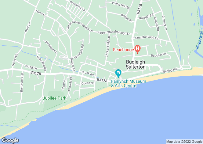 Map for Thornton Close, Budleigh Salterton, Devon