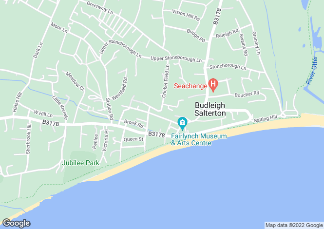 Map for East Terrace, Budleigh Salterton