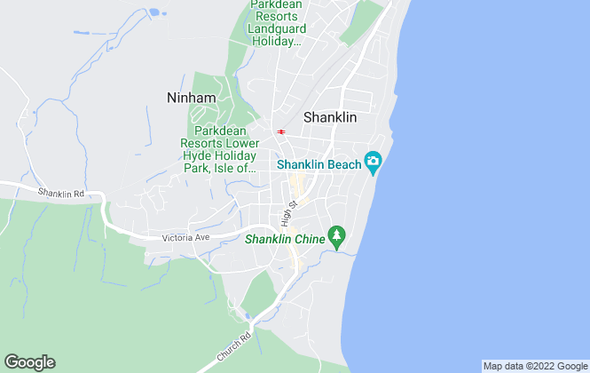 Map for Arthur Wheeler Estate Agents, Shanklin