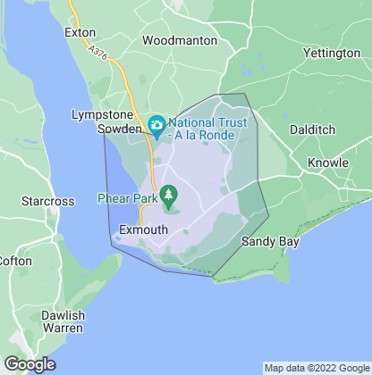 Map of property in Exmouth
