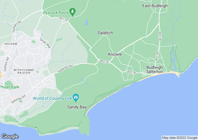 Map for Troodos, Castle Lane, BUDLEIGH SALTERTON, Devon