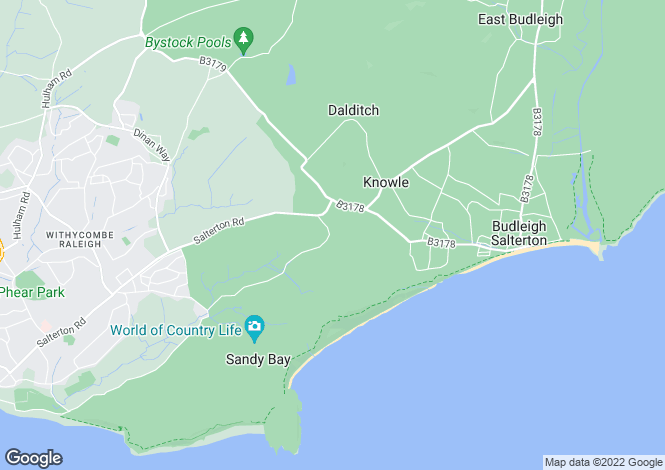 Map for Castle Lane, Budleigh Salterton, Devon