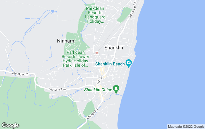 Map for Pittis, Shanklin