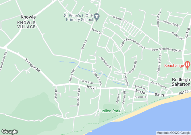 Map for 30, Little Knowle, BUDLEIGH SALTERTON, Devon