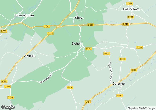 Map for dohem, Pas-de-Calais, France