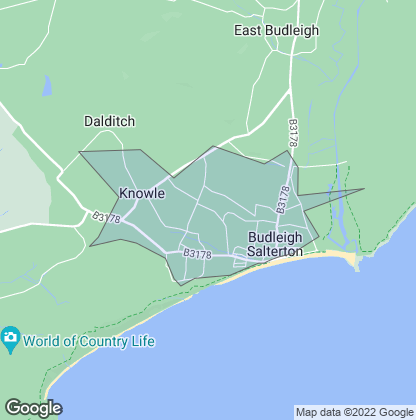 Map of property in Budleigh Salterton