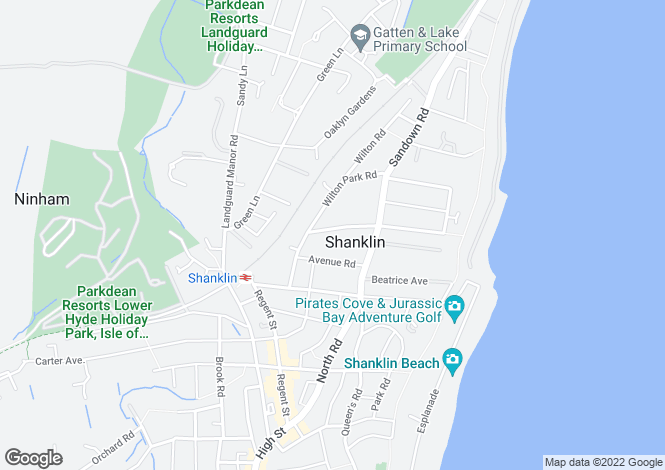 Map for Shanklin, Isle Of Wight