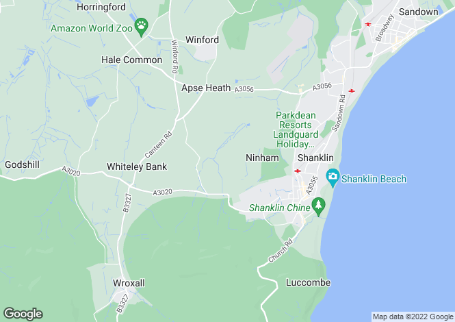 Map for Near Shanklin