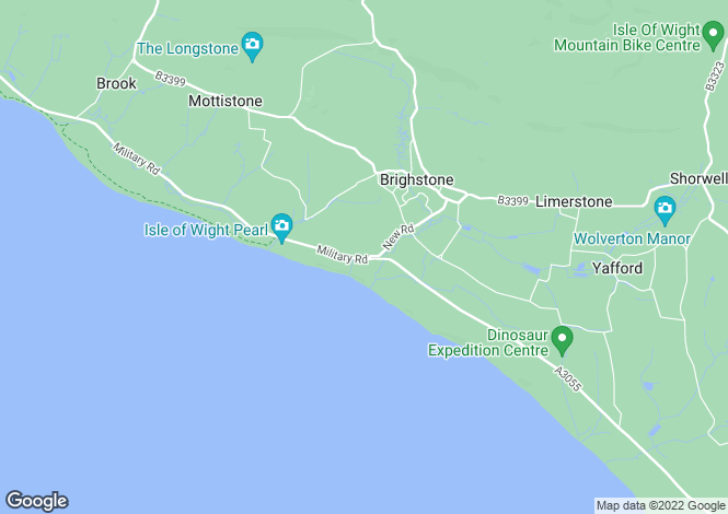 Map for Military Road, Brighstone