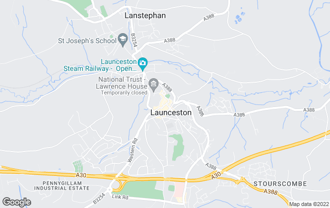 Map for Kivells, Launceston