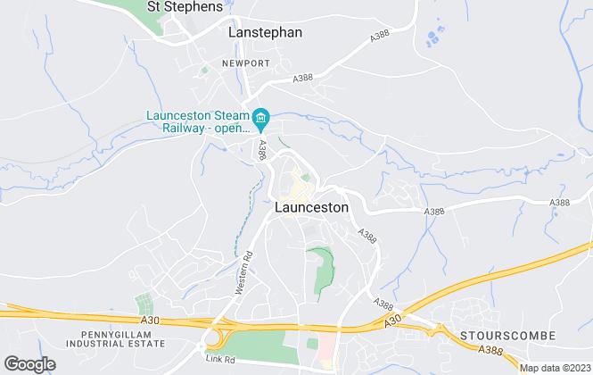 Map for Millerson, Launceston