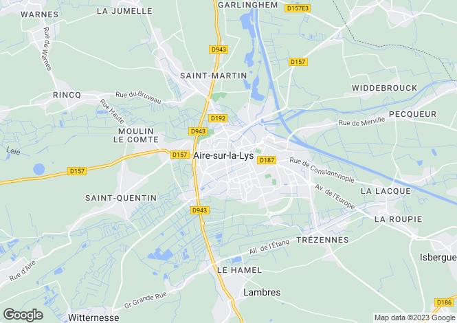 Map for aire-sur-la-lys, Pas-de-Calais, France