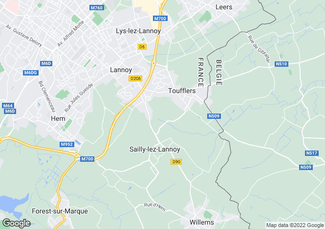 Map for lille, Nord, France