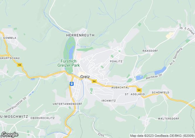 Map for Greiz, Thuringia