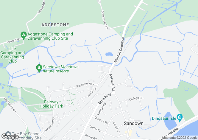 Map for Brook Close, Sandown