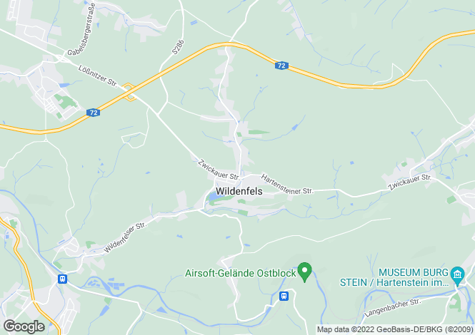 Map for Wildenfels, Saxony