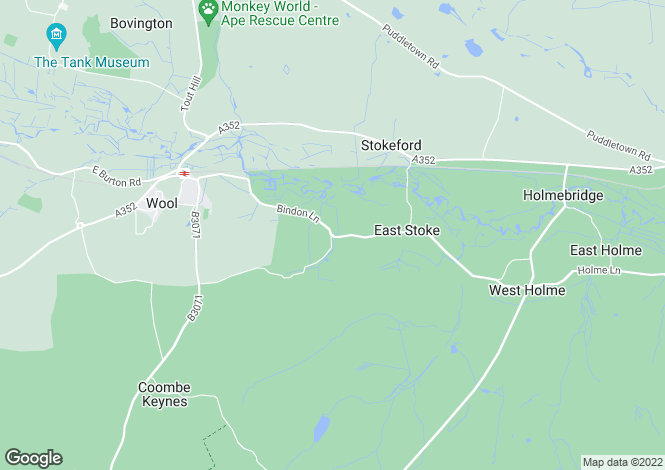 Map for Woodlands Lodge, Bindon Lane, Wareham, East Stoke