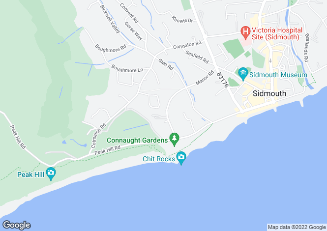 Map for Westbourne, Manor Road, Sidmouth, Devon