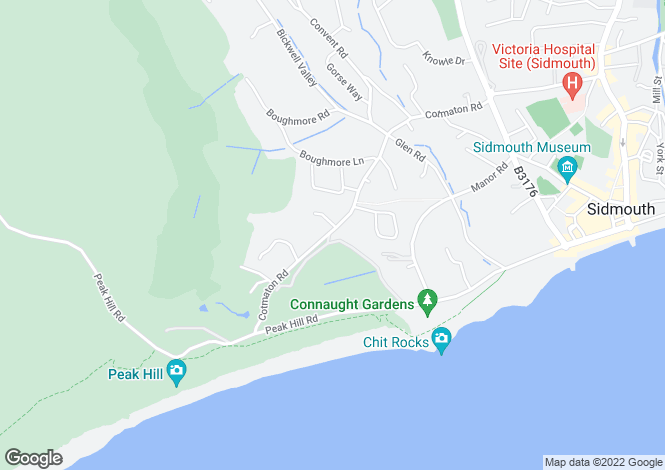 Map for Cotmaton Road, Sidmouth, Devon