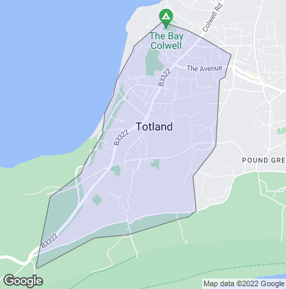 Map of property in Totland Bay