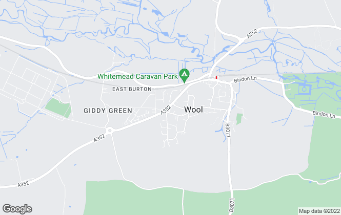 Map for Hardy Estate Agents, Wool