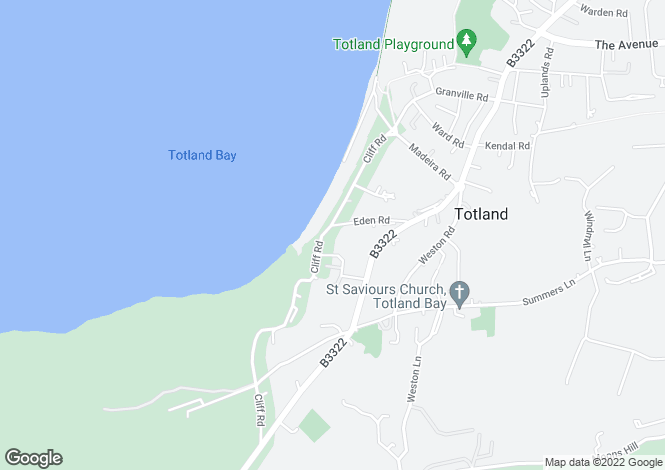 Map for Totland Bay, Isle Of Wight