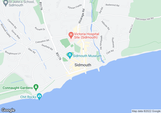 Map for Sidmouth Town Centre